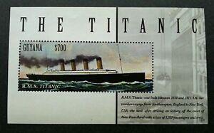 [SJ] Guyana Titanic 2013 Sinking Ship Movie Transport Vehicle (ms) MNH