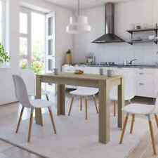 vidaXL Dining Table Sonoma Oak Chipboard Home Kitchen Dinner Dining Room Table