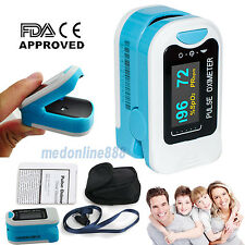 2017 New Finger Tip Pulse Oximeter Blood Oxygen SPO2 OLED Heart Rate Monitor USA