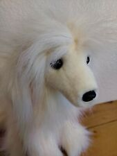 Purely Luxe Afghan Hound Plush White With Pink Tipped Fur Valentine Rare New
