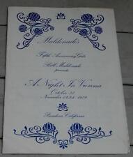 Vintage Program, Maldonado's Fifth Anniversary Gala, A Night in Vienna, 1979