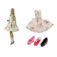 """3 Pairs Single Shoes & Dress for 12"""" Blythe 1/6 BJD Doll Clothing Accessory"""