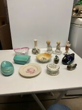 Job Lot Of Ornaments Dishes And Vase