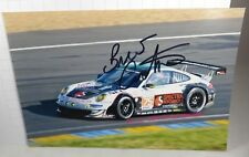 PHOTO cm 13x18 SIGNED by Bret Curtis PORSCHE 997 GT3 RSR PROSPEED LE MANS 2012