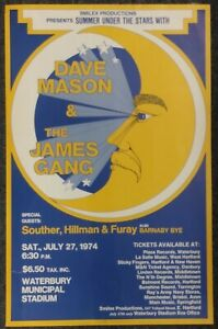 Dave Mason James Gang Souther Hillman Furay ORIGINAL 1974 CONCERT POSTER CT