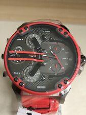 Diesel DZ7370 Mens Mr Daddy 2.0 Red Steel Bracelet Chronograph Men's Watch