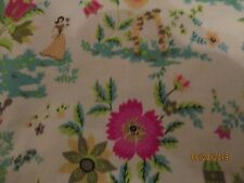 Cotton Fabric-1 Yd By Katie Fred Produced For Joann'S-Beautiful Turquoises-Pink