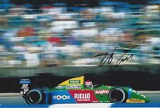 Nelson Piquet Hand Signed Benetton Ford F1 12x8 Photo.