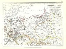 Antique map, Map of Prussia & Poland to illustrate the campaigns of 1806