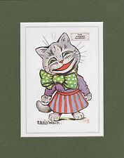 MOUNTED LOUIS WAIN CAT PRINT  -  MASCOTS  -  THE  MERRY  MASCOT
