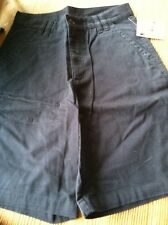 greendog guy solid navy blues 100% cotton  shorts size 16 nwt