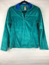 Patagonia Women's Size Small Pullover Zip Henley Plush Synch Marsupial Green