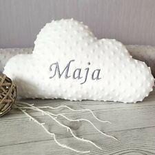 Minky Wolkenkissen mit Namen bestickt | Baby | Kinder | Wolke | Kissen