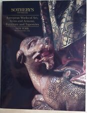 Sotheby's EUROPEAN WORKS OF ART, ARMS & ARMOUR, FURNITURE, TAPESTRIES 1994 NY