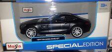 Mercedes-Benz AMG GT Diecast Car 1:24 Maisto 7.5 inch MATTE BLACK