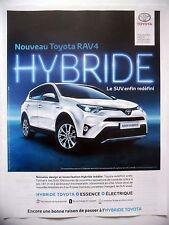 PUBLICITE-ADVERTISING :  TOYOTA RAV4 Hybride  2016 Voitures