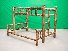 Torched Cedar Log Bunk Bed - Twin Over Queen - $899 - Free Shipping