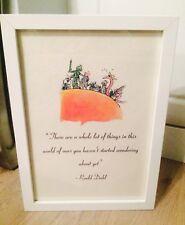 James & The Giant Peach Roald Dahl Vintage Quote Art Print Unframed Gift Nursery