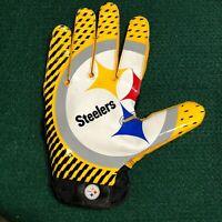 Pittsburgh Steelers NFL Big Logo Game Used Nike Super Bad Right Glove - XXL