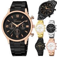 Men's Luxury Watch Stainless Steel Strap Dial Watch Quartz Analog Wrist Watches