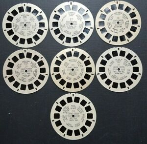 Grand Canyon Lot of 7 Hand Lettered Viewmaster Reels 26 27 28 29 30 31 36