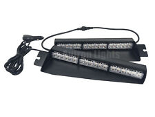 "29"" 36 LED White Flasher Emergency Strobe Visor Dash Sucker Split Deck Light Bar"
