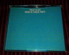 L NEW RARE - Philip Glass 3 CD Music in Twelve Parts - Virgin Records