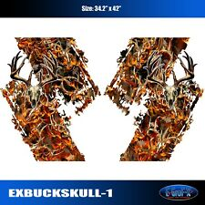 Buck Skull Camo Decal Chevy Ford Dodge Toyota Nissan Truck High Quality EgraF-X