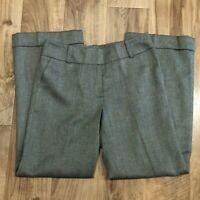 Talbots Wide Leg Dress Pants Size 6 Herringbone Blue Wool Blend Lined Womens