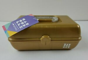 CABOODLES On the Go Gold Makeup Cosmetics Case - NEW!  I Love Retro !