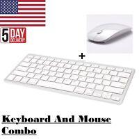 Wireless Bluetooth Keyboard & USB Mouse Combo Set For PC Desktop Computer Laptop