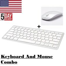 Wireless Bluetooth Keyboard & USB Mouse Combo Set For PC Desktop Computer Laptop
