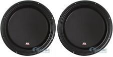 "2) MTX 3512-04S 12"" SVC 4-ohm 1200W Slim Subs Shallow Car Audio Subwoofers"