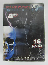 16 Horror Classics (DVD, 2005, 4-Disc Set) 4 DVD Video Brand New Factory Sealed
