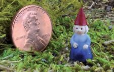 Miniature Micro Lady Girl  Gnome Pick GO 17421 Fairy Garden Dollhouse Terrarium