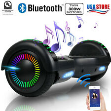 """6.5"""" Hoverboard Bluetooth 2 Wheel Electric Self Balance Scooter W/ Bag Ul Xmas"""