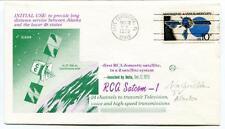 1975 RCA Satcom-1 Initial Use Alaska Cape Canaveral Domestic Satellite NASA USA