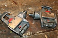 """Vintage Time Sport 9/16"""" Spindle Clipless Road Bike Cycling Pedals in OK shape"""