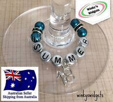 Deluxe 18th Birthday Wine Glass Charm - Personalised/Any name Party Gift Ideas
