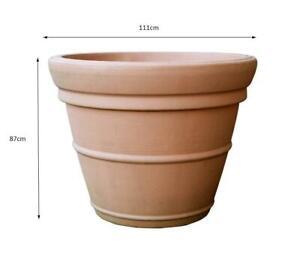 500 litre Prestige extra large terracotta style pot planter