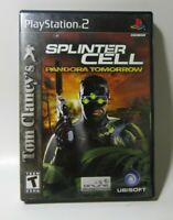 Tom Clancy's Splinter Cell: Pandora Tomorrow (Sony PlayStation 2, 2004) PS2 Game