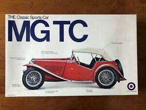 MG TC 1/16 Scale Entex Model 1973 Vintage Kit - Mint & Rare OOP