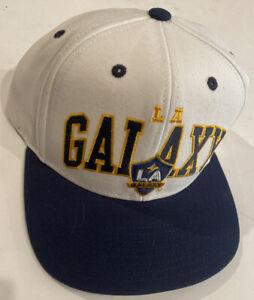 Adidas MLS Men's LA Galaxy Two Tone Flat Brim Snapback Hat