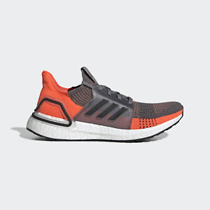 NEW Adidas Ultraboost 19 G27517 Grey/Orange Running Shoes For Men's