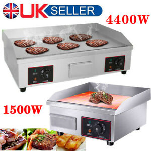 Commercial Electric Griddle Kitchen Hotplate BBQ Grill Large Countertop Plancha
