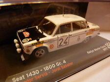Voiture Miniature Seat 1430-1800 Gr.4 Rallye de Monté-carlo 1977 1/43