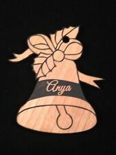 Personalized Christmas Bell Wooden Christmas Ornament (FREE SHIPPING)