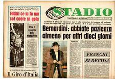 rivista sportivo STADIO anno 1975 n. 126 BERNARDINI: ABBIATE PAZIENZA ALMENO ...