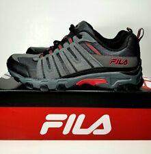 Fila Westmount Grey Black Red Leather Sneakers Sz 11 Mens Shoes NIB!
