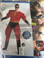 Disguise Unisex Adult Deluxe Muscle Mr Incredible, X-Large (42-46) Costume